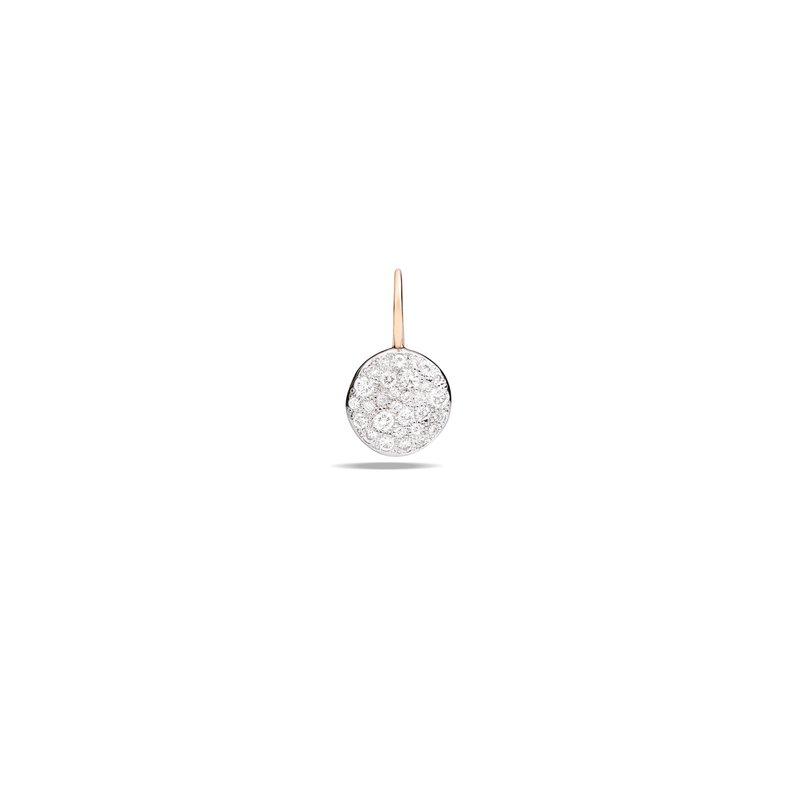 Pomellato Sabbia 18k rose gold diamond earrings