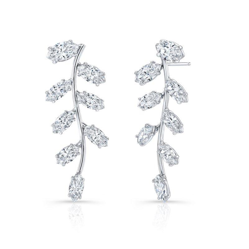 Rahaminov 18k White Gold Diamond Dangle Earrings