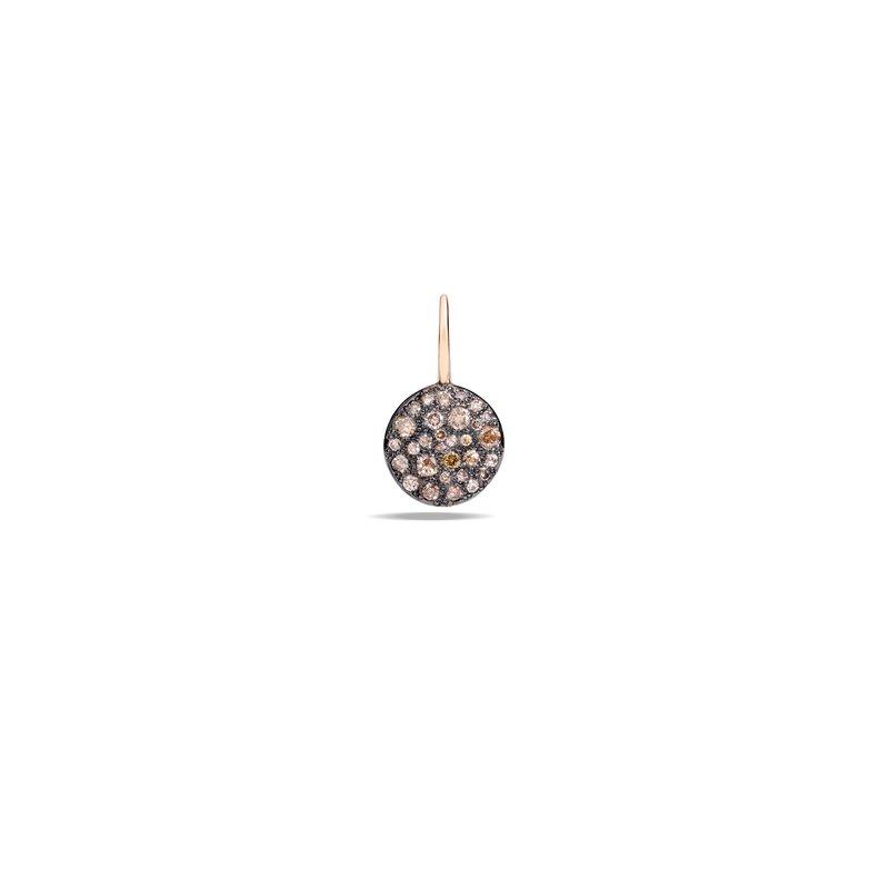 Pomellato Sabbia 18k rose gold brown diamond earrings