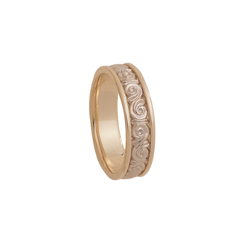 Cadman Catalog 6mm 5132 Mens Two Tone Wedding Band