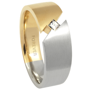 7.5-5mm 5764 Mens Tapered Wedding Band