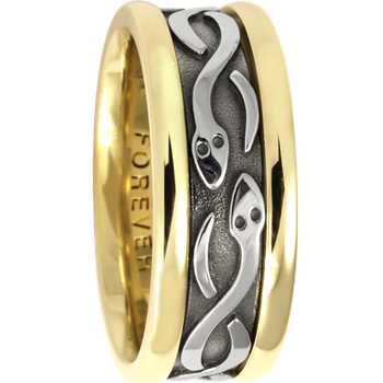 7.5mm 5416 Ladies Celtic Wedding Band