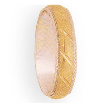 6mm 4T84 Mens Two-Tone Wedding Band