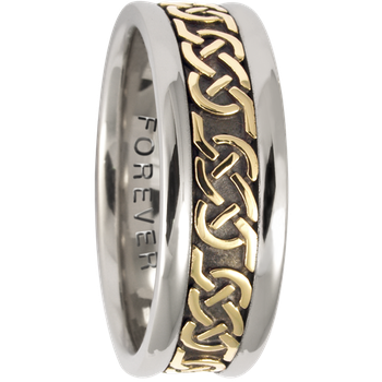 7.5mm 5316 Mens Celtic Wedding Band