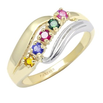 TWO-TONE FAMILY RING