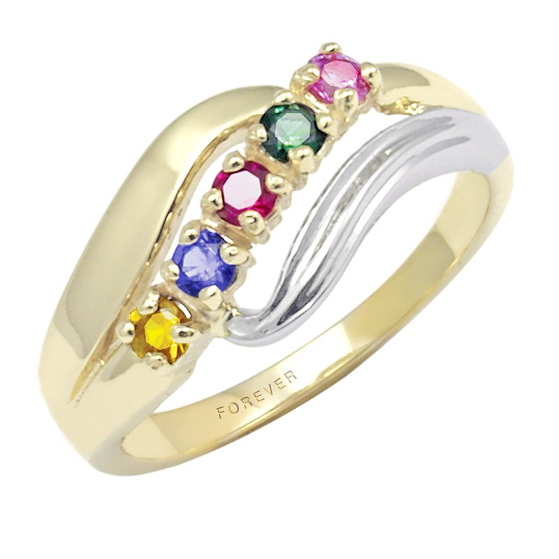 Cadmans TWO-TONE FAMILY RING
