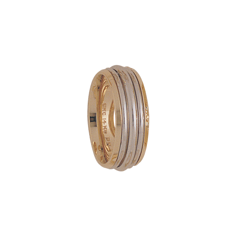 Cadman Catalog 7mm 5166 Ladies Two Tone Wedding Band