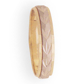5mm 8T42 Mens Two-Tone Wedding Band