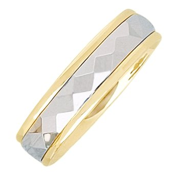 6mm 5T64 Mens Two-Tone Wedding Band