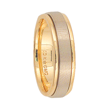 5mm 6T73 Ladies Two-Tone Wedding Band