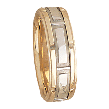 7.5mm 5502 Mens Two Tone Wedding Band