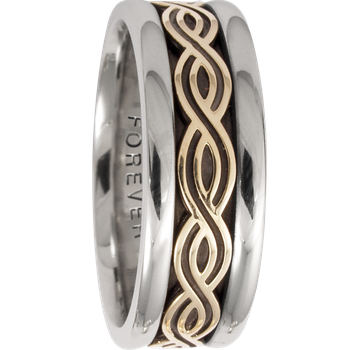 7.5mm 5422 Mens Celtic Wedding Band
