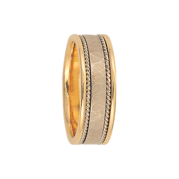 8mm 6T54 Mens Two-Tone Wedding Band