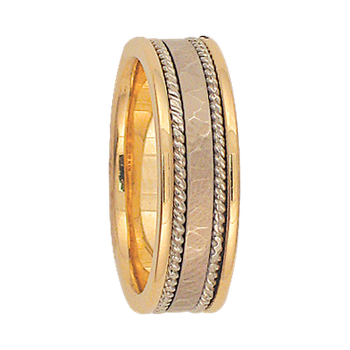 6mm 6T55 Ladies Two-Tone Wedding Band