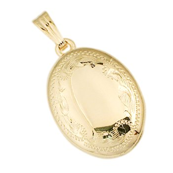 HAND-ENGRAVED OVAL LOCKET