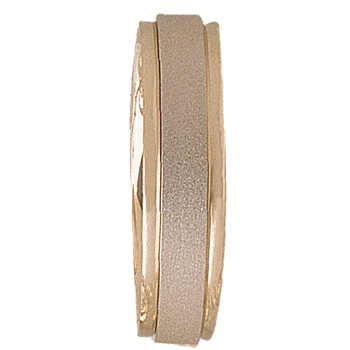 6mm 5T68 Mens Two-Tone Wedding Band