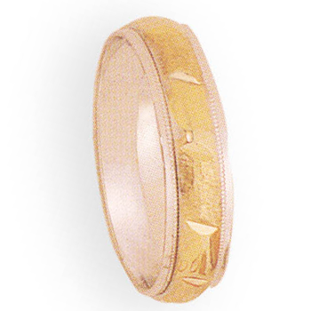 6mm 4T86 Mens Two-Tone Wedding Band