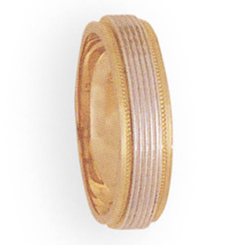 5mm 3T56 Ladies Two-Tone Wedding Band