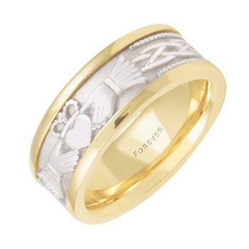 LADIES CLADDAGH 6.5mm WEDDING BAND