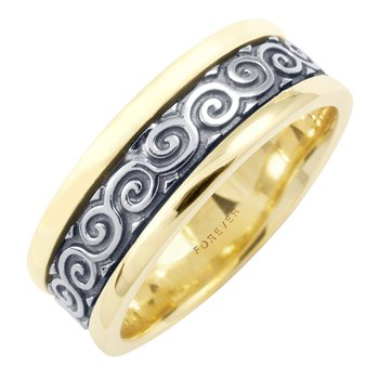 MENS CELTIC COILS WEDDING BAND