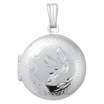 HAND-ENGRAVED ROUND DOVE LOCKET