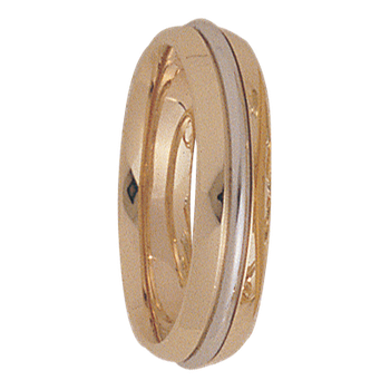 5mm 5170 Ladies Two Tone Wedding Band
