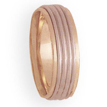 7mm 4T40 Mens Two-Tone Wedding Band
