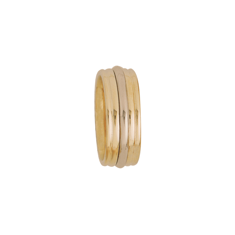Cadman Catalog 7.5mm 5256 Ladies Two Tone Wedding Band