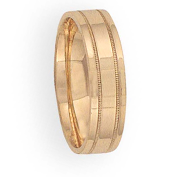 6mm 6T34 Mens Comfort Curve Wedding Band