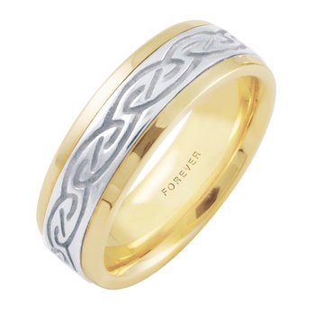 LADIES CELTIC SPIRAL WEDDING BAND
