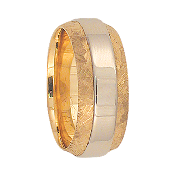 7mm 6T20 Ladies Two-Tone Wedding Band