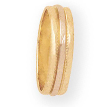 6mm 6T52 Mens Two-Tone Wedding Band