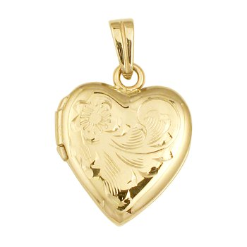 HAND-ENGRAVED HEART LOCKET