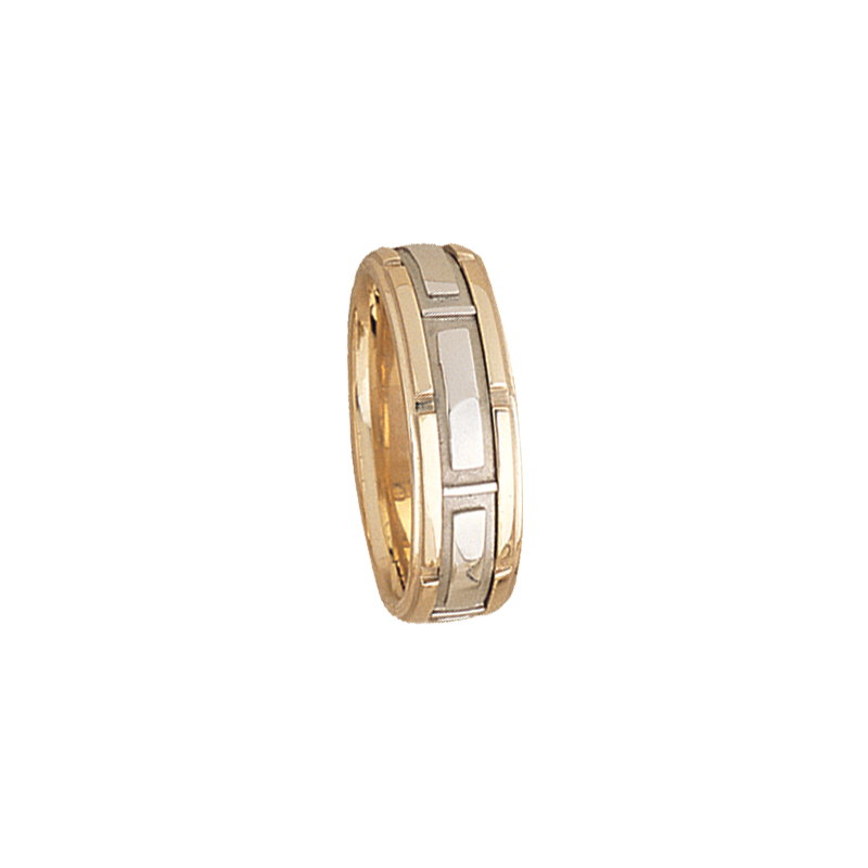 Cadman Catalog 7.5mm 5502 Mens Two Tone Wedding Band