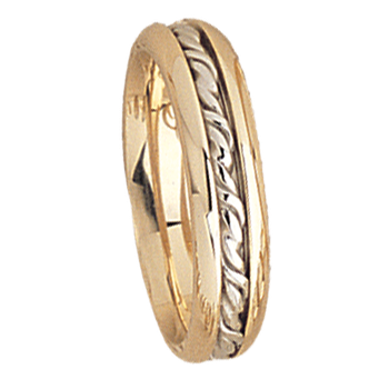 5mm 5537 Ladies Two Tone Wedding Band