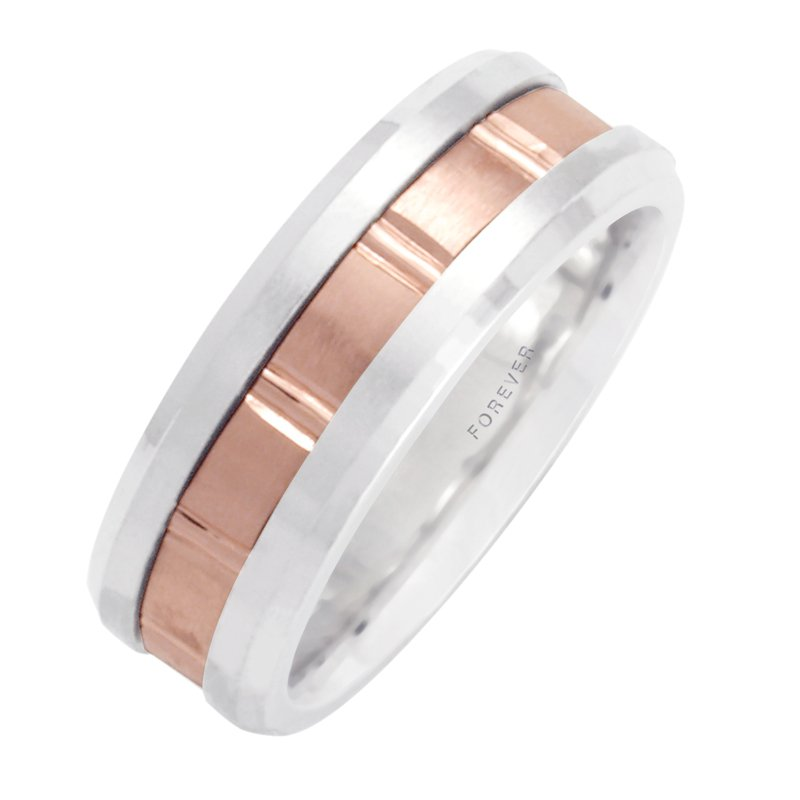 Cadmans LADIES TWO-TONE WEDDING BAND