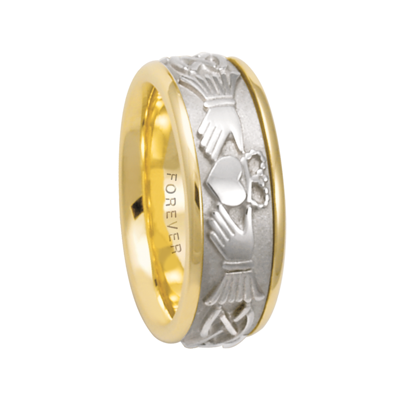 Cadman Catalog 7.5mm 5520 Mens Claddagh Wedding Band