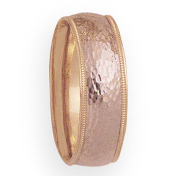 8mm 4T46 Mens Two-Tone Wedding Band