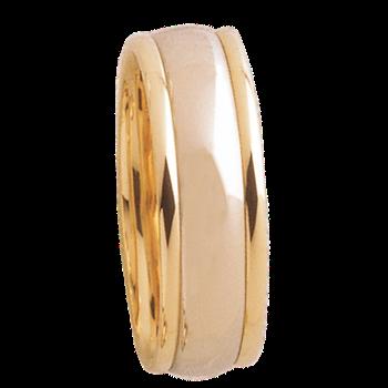 7mm D7T01 Mens Two-Tone comfort Curve Wedding Band