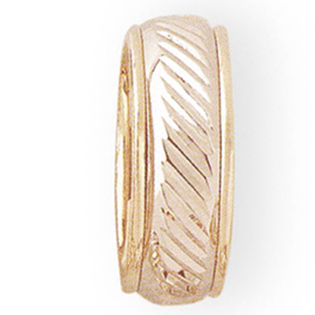 8mm 5T24 Ladies Two-Tone Wedding Band