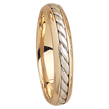 5mm 5532 Mens Two Tone Wedding Band