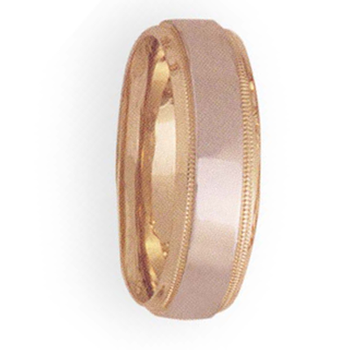 7mm 4T44 Mens Two-Tone Wedding Band