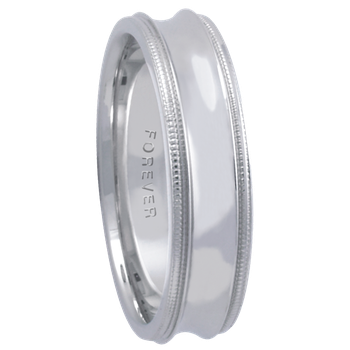 6mm 6T80 Mens Comfort Curve Wedding Band