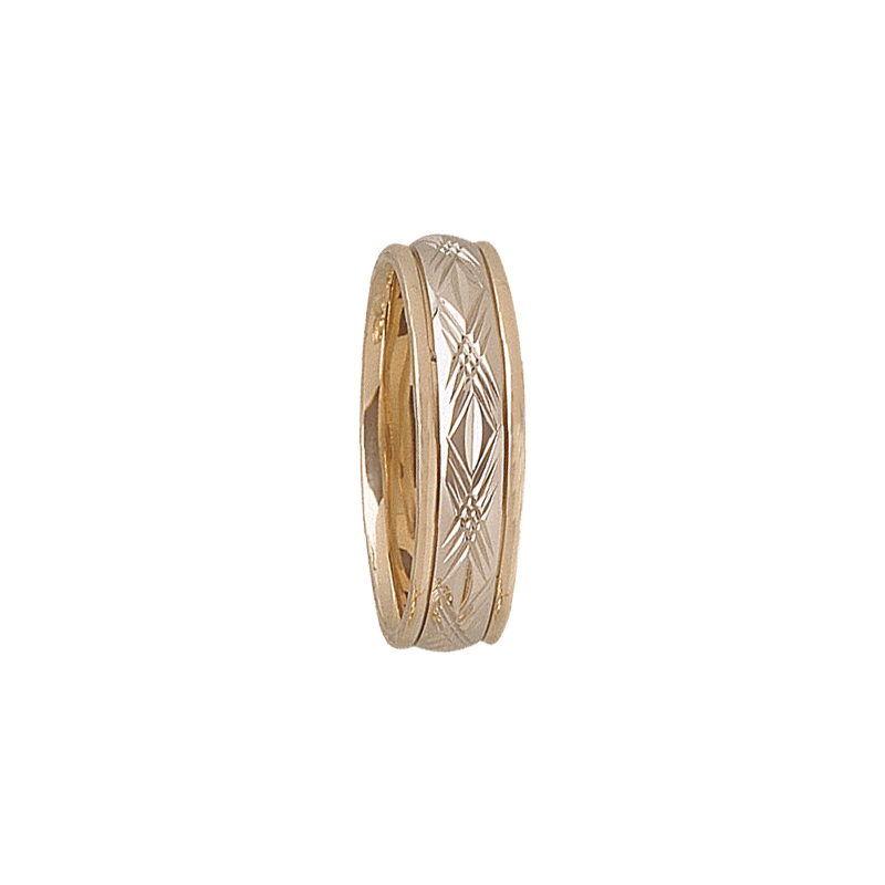 Cadman Catalog 6mm D4T94 Mens Two-Tone Wedding Band