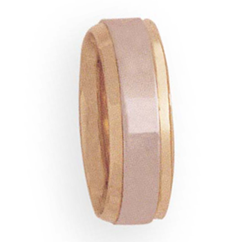 7mm 4T34 Ladies Two-Tone Wedding Band