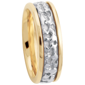 7.5mm 5650 Mens Two Tone Wedding Band
