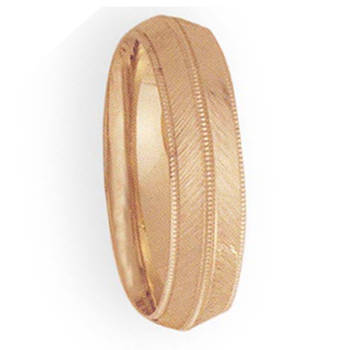 6mm 3T76 Men's comfort Curve Wedding Band