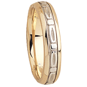 5mm 5528 Mens Two Tone Wedding Band