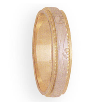 5mm 3T58 Man's Two-Tone Wedding Band