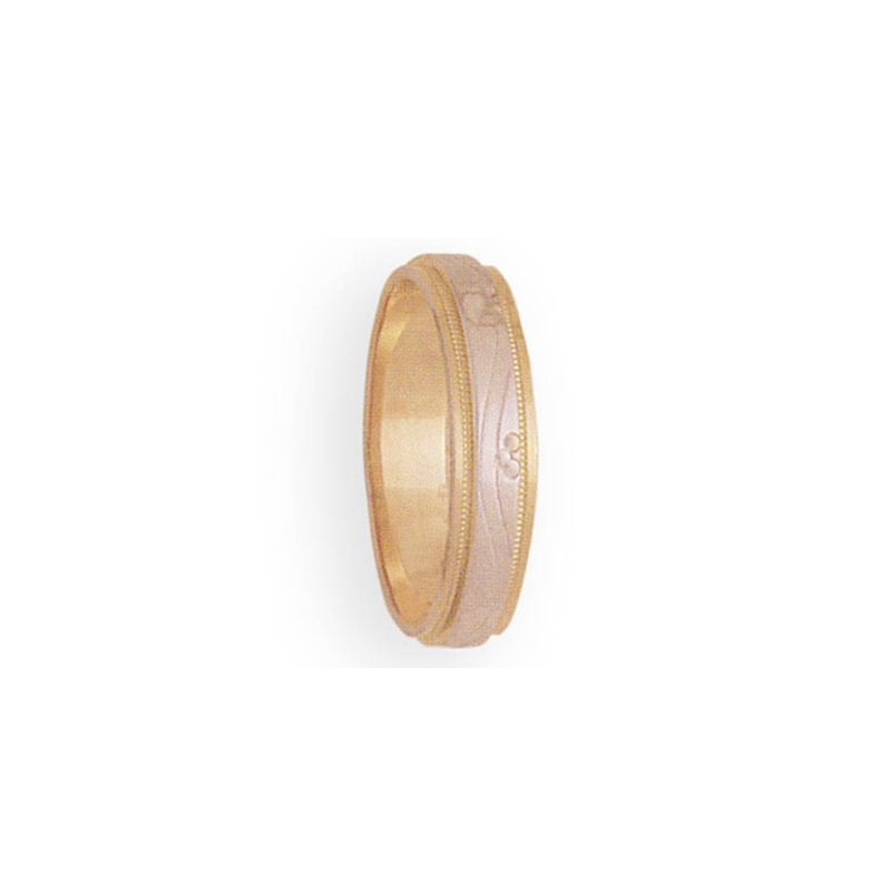 Cadman Catalog 5mm 3T58 Man's Two-Tone Wedding Band
